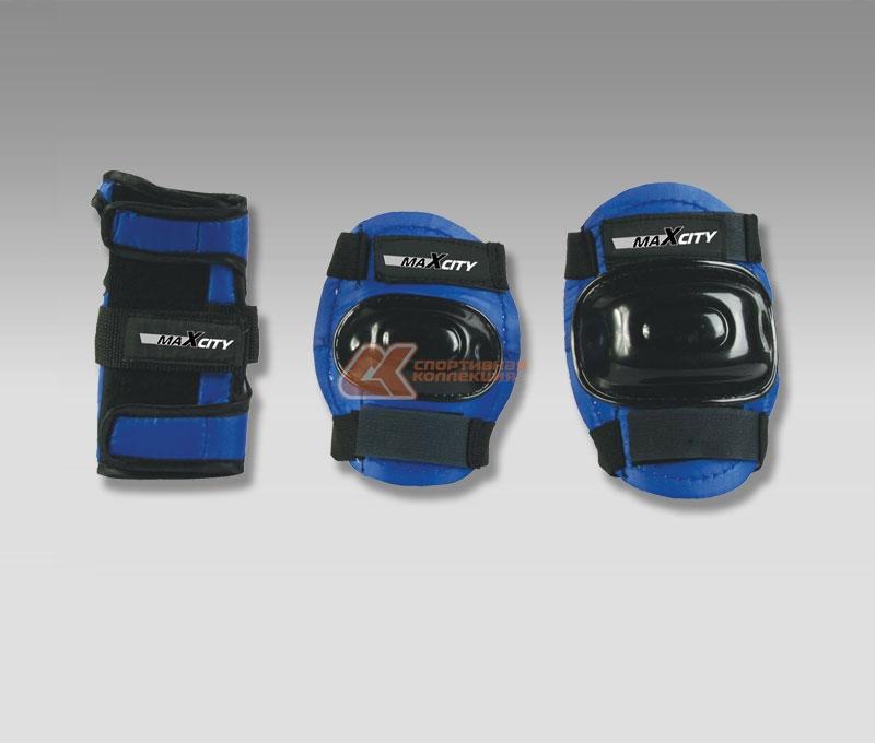 Защита роликовая MaxCity Standard, цвет: синий, черный. Размер M2770960253614