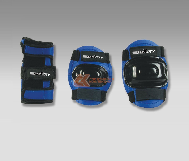 Защита роликовая MaxCity Standard, цвет: синий, черный. Размер L самокат maxcity mc fusion