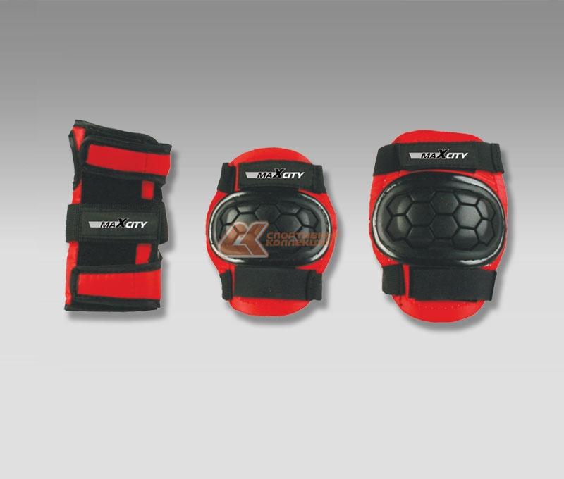 Защита роликовая MaxCity Match, цвет: красный, черный. Размер L2770960254314