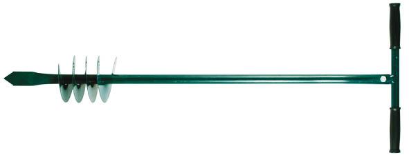 Бур ручной FIT, для почвы, 85 см531-402Ручной шнековый бур FIT - это инструмент для бурения скважин и цилиндрических отверстий в грунте. Применяется в саду, огороде и на строительных площадках. Бур изготовлен из инструментальной стали, поэтому отличается прочностью и долгим сроком службы.