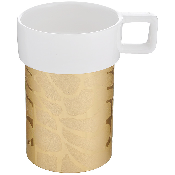 Кружка Amber Porcelain Жираф, цвет: белый, золотистый, 220 мл290147Кружка Amber Porcelain Жираф, выполненная из фарфора, имеет оригинальную форму и дизайн. Дно изделия оснащено силиконовой накладкой.Такая кружка порадует васдизайном и функциональностью, а пить чай или кофе из нее станет ещеприятнее.