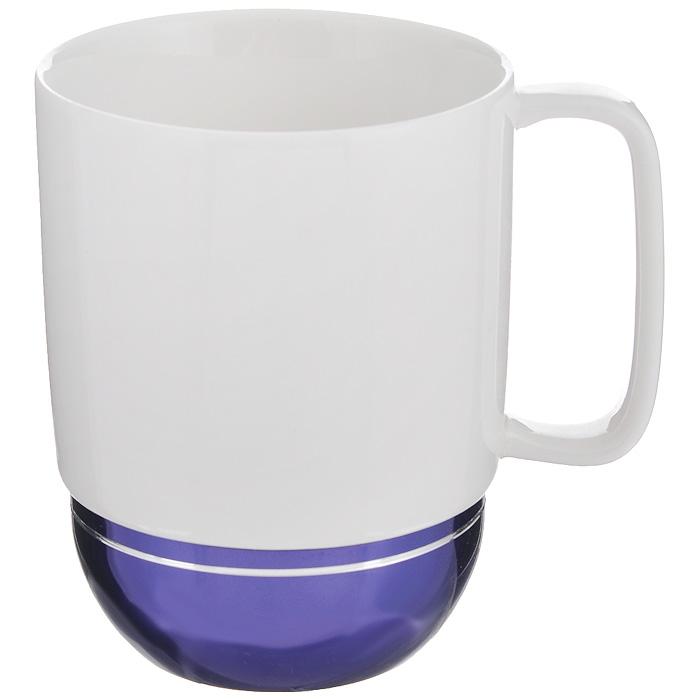 Кружка Amber Porcelain, цвет: белый, фиолетовый, 350 мл кружка amber porcelain 220 мл 214176