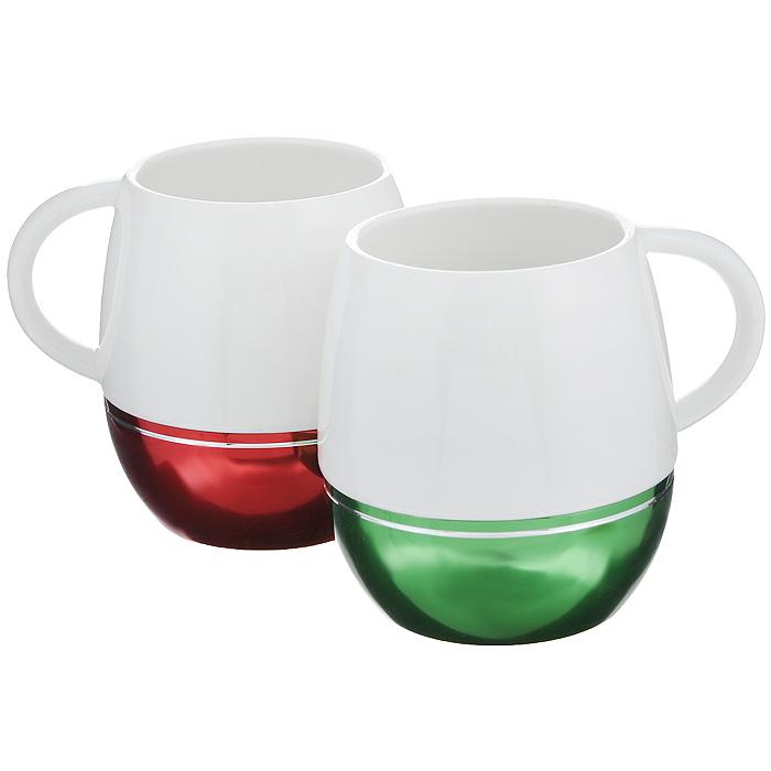 Набор кружек Amber Porcelain, 430 мл, 2 шт115510Набор Amber Porcelain состоит из двух кружек, выполненных из фарфора. Дно изделий оснащено силиконовой накладкой. Этот необычный набор станетвеликолепным подарком для каждого и, несомненно, вызовет восхищение.