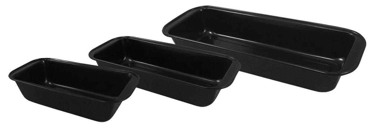 Набор форм для выпечки Bohmann, 3 шт. 6453BHFS-91909Набор Bohmann состоит из трех прямоугольных форм для выпечки, изготовленных из металла с антипригарным покрытием. Форма с антипригарным покрытием идеально подходит для приготовления пищи с применением минимального количества масла и жиров. Слой антипригарного покрытия полностью устраняет пригорание пищи и ее прилипание к стенкам и дну. Приготовленная в такой форме пища отлично сохраняет свои вкусовые качества и имеет привлекательный, аппетитный вид. Выпечка легко извлекается из формы. Рекомендуется пользоваться деревянной или нейлоновой лопаткой во избежание повреждения антипригарного покрытия. Не использовать металлические губки для очистки.С таким набором форм вы всегда сможете порадовать своих близких оригинальной выпечкой.Можно мыть в посудомоечной машине. Размер маленькой формы: 25,5 х 13 х 6,5 см. Внутренний размер маленькой формы: 21,5 х 11,5 х 6 см. Размер средней формы: 30 х 13 х 6 см. Внутренний размер средней формы: 26 х 11 х 5,5 см. Размер большой формы: 35 х 13 х 6 см. Внутренний размер большой формы: 31 х 11 х 5,5 см.