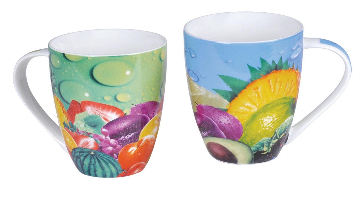 Bohmann набор чайных кружек ВНР-321, 2 предмета (дизайн фрукты),115010Набор фарфоровых чайных кружек (дизайн фрукты). 2 предмета - чашки (480мл). фарфор