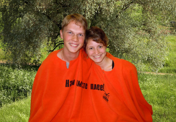 Пончо для двоих Экспедиция, цвет: оранжевый, 200 х 150 экспедиция плед флисовый пончо для двоих