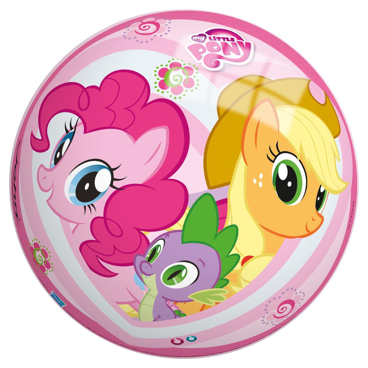 """Яркий детский мяч John """"Моя маленькая пони"""" - это игрушка для детей любого возраста. Он выполнен из ПВХ и оформлен изображением персонажей мультфильма """"My Little Pony"""". Мяч незаменим для любителей подвижных игр и активного отдыха, подходит для игр на воде. Игры с мячом развивают координацию движений, способствуют физическому развитию ребенка. УВАЖАЕМЫЕ КЛИЕНТЫ! Просим вас обратить внимание на тот факт, что мяч поставляется в сдутом виде и надувается при помощи насоса (насос не входит в комплект)."""