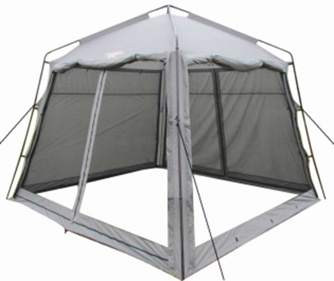 Тент Campack Tent G-3501W с ветро-влагозащитными полотнами787502Модель G-3501W представляет собой компактный аналог самой популярной модели последних трех лет G-3601W.Четырехгранный тент с внешним металлическим каркасом. Идеально подойдет для размещения столовой иликухни. Размер тента 3 на 3 метра, высота - 2,5 метра в коньке, позволяет взрослому человеку находиться внутрив полный рост. Тент оснащен по периметру москитной сеткой, для надежной защиты от надоедливых насекомых.Дополнительные полотна позволяют защитить от дождя и ветра в непогоду. В жаркую погоду G-3501W отличновентилируется. Тент имеет два входа. Для установки или разборки вам понадобится минимум времени. Конструкция каркаса не предусматривает изгибаемых элементов, которые со временем имеют свойство разрушаться. Кроме того каркас выполнен из усиленных труб, с толщиной стенки 0,8 мм. А это значит, что ваше приобретение будет радовать вас долгое время. Проклеенные швы гарантируют герметичность и надежность в любой ситуации. Характеристики: Размер тента (ДхШхВ): 300 см х 300 см х 250 см. Ткань тента: 190T Taffeta. Сетка: No-See-Um Mesh. Каркас:сталь 16 мм, 19 мм и 25 мм.