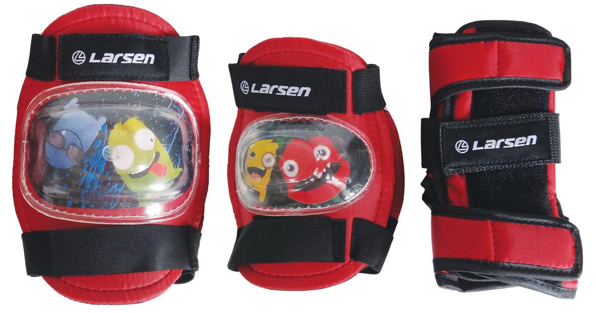 Защита роликовая Larsen Monsters, цвет: красный. Размер XS286883