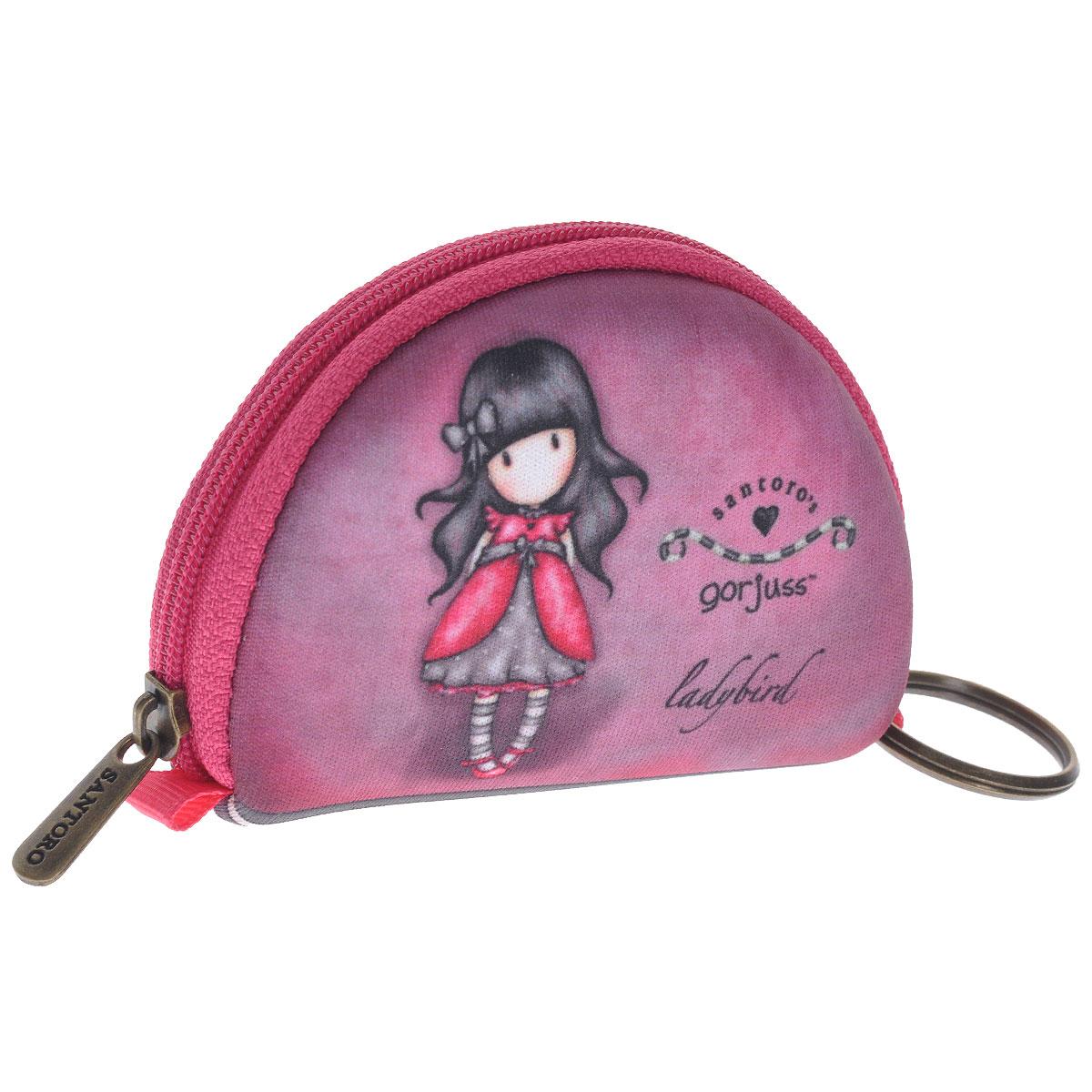 Мини кошелечек Ladybird. 0012180W16-11128_323Мини кошелек Ladybird не позволит потеряться ни одной идеев потоке событий и станет прекрасным подарком для любительницыоригинальных вещиц. Кошелек выполнен из полиуретана розового цвета иоформлен стилизованным рисунком шотландской художницы Сюзан Вулкотт(Suzanne Woolcott) с изображением основного персонажа своихпроизведений - девочки Горджус (Gorjuss).Кошелек, застегивающийся на молнию и также имеет кольцо для ключей. Характеристики:Материал:полиуретан, металл. Размер:9 см х 6 см х 2 см. Цвет: розовый.