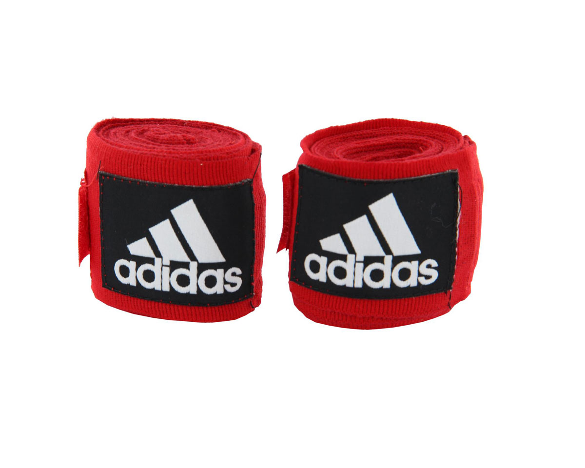 Бинт эластичный Adidas Boxing Crepe Bandag, цвет: красный, 350 см, 2 штadiBP03