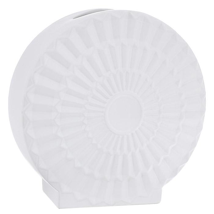 Ваза керамическая Феникс-презент, цвет: белый. 2390023900Оригинальная ваза Феникс-презент, выполненная из керамики, станет отличным украшением интерьера и подчеркнет его изысканность. Керамическую вазу можно преподнести в качестве оригинального подарка или сувенира. Характеристики:Материал: керамика. Цвет: белый. Размер вазы: 34 см x 34 см x 14 см.