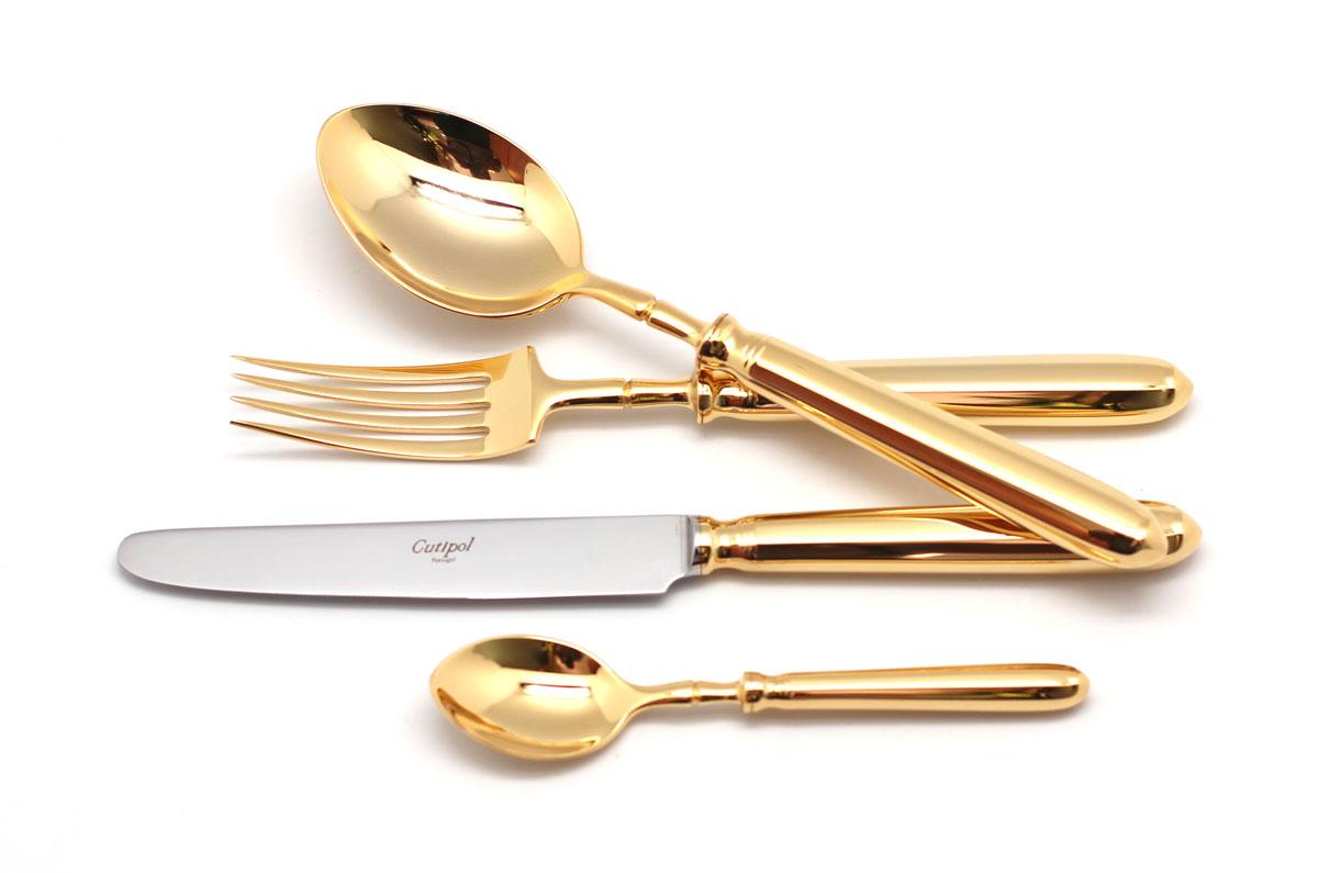 Набор столовых приборов Cutipol Mithos Gold, 72 предмета54 0093129151-72 MITHOS GOLD Набор 72 пр. Характеристики: Материал: сталь.Размер: 660*305*225мм.Артикул: 9151-72.