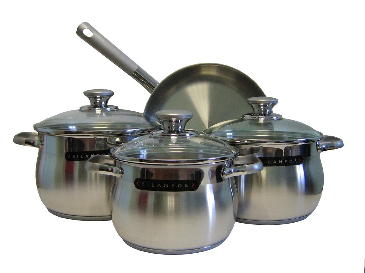 Набор посуды Silampos Роял Сатин, 7 предметов633123V60141633123V60141 Набор 4пр.РОЯЛ САТИН Характеристики: Материал: сталь.Размер: 550*310*250мм.Артикул: 633123V60141.