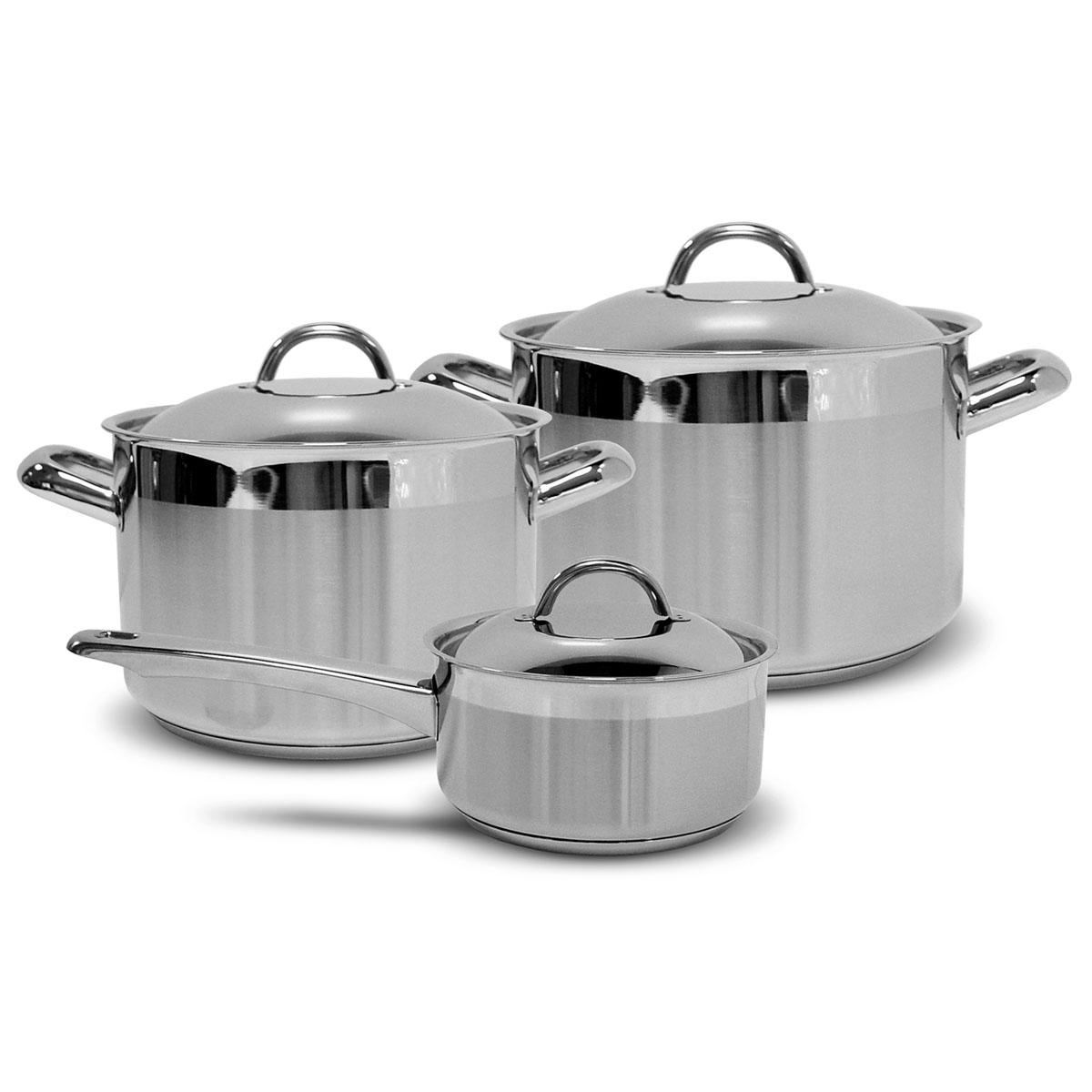 Набор посуды Silampos Европа, 6 предметов54 009312632123BM0217 Набор 3пр.ЕВРОПА Характеристики: Материал: сталь.Размер: 330*300*210мм.Артикул: 632123BM0217.