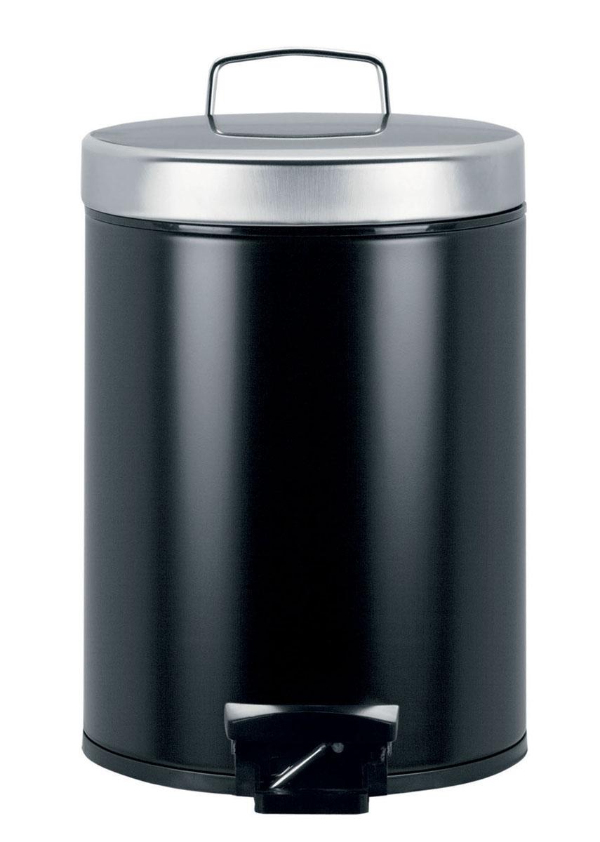Бак мусорный Brabantia  Классический , с педалью, цвет: черный, 5 л - Инвентарь для уборки