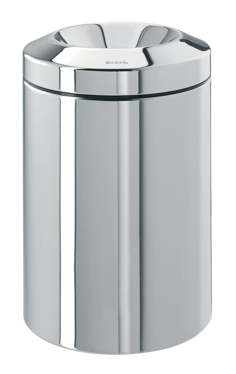 Корзина для бумаг Brabantia, с защитой от возгорания, цвет: стальной полированный, 15 л1080Несгораемая корзина для бумаг Brabantia выполнена из антикоррозийной полированной стали, станет идеальным безопасным решением для вашего дома или офиса. Корзина оснащена съемным гасителем огня из нержавеющей стали, который изолирует доступ кислорода в случае возгорания отходов, и огонь гаснет. Содержимое мусорного ведра практически полностью скрыто от глаз, а съемная внутренняя металлическая корзина легко чистится и устойчива к коррозии. Пластиковый защитный обод предотвращает повреждение пола.