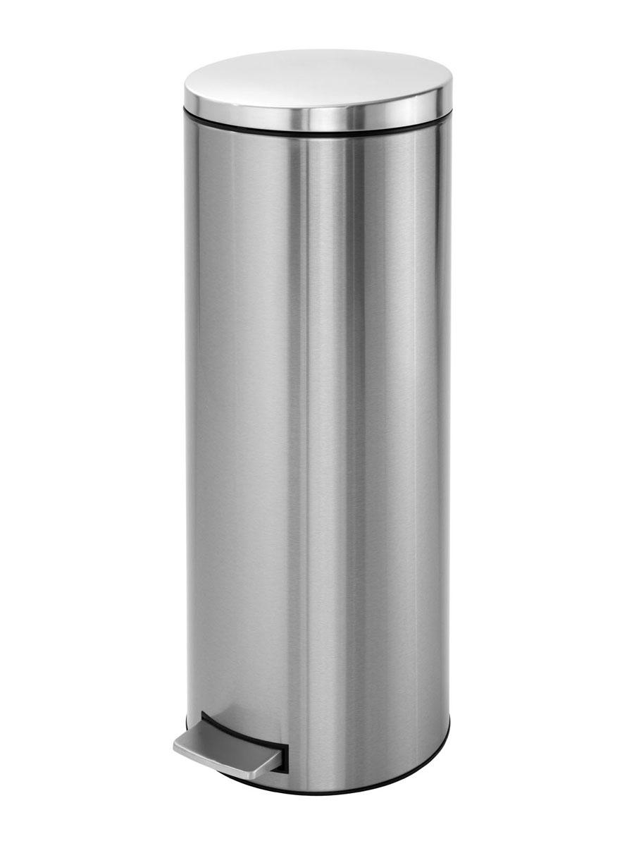 Бак мусорный Brabantia Бесшумный, высокий, с педалью, цвет: матовая сталь, 20 л478628Элегантный и высокий мусорный бак Brabantia с уникальным механизмом MotionControl идеально подходит для использования на кухне или в гостиной. Механизм MotionControl обеспечивает мягкое действие педали и бесшумное открывание крышки;Надежный педальный механизм, высококачественные коррозионно-стойкие материалы;Удобный в использовании - при открывании вручную крышка фиксируется в открытом положении, закрывается нажатием педали; Удобная очистка – съемное внутреннее пластиковое ведро;Бак удобно перемещать - прочная ручка для переноски; Отличная устойчивость даже на мокром и скользком полу – противоскользящее основание;Предохранение пола от повреждений - пластиковый защитный обод; Всегда опрятный вид - идеально подходящие по размеру мешки для мусора с завязками (размер F); 10-летняя гарантия Brabantia. Характеристики: Материал: сталь.Размер: 330*295*751мм.Артикул: 478628.