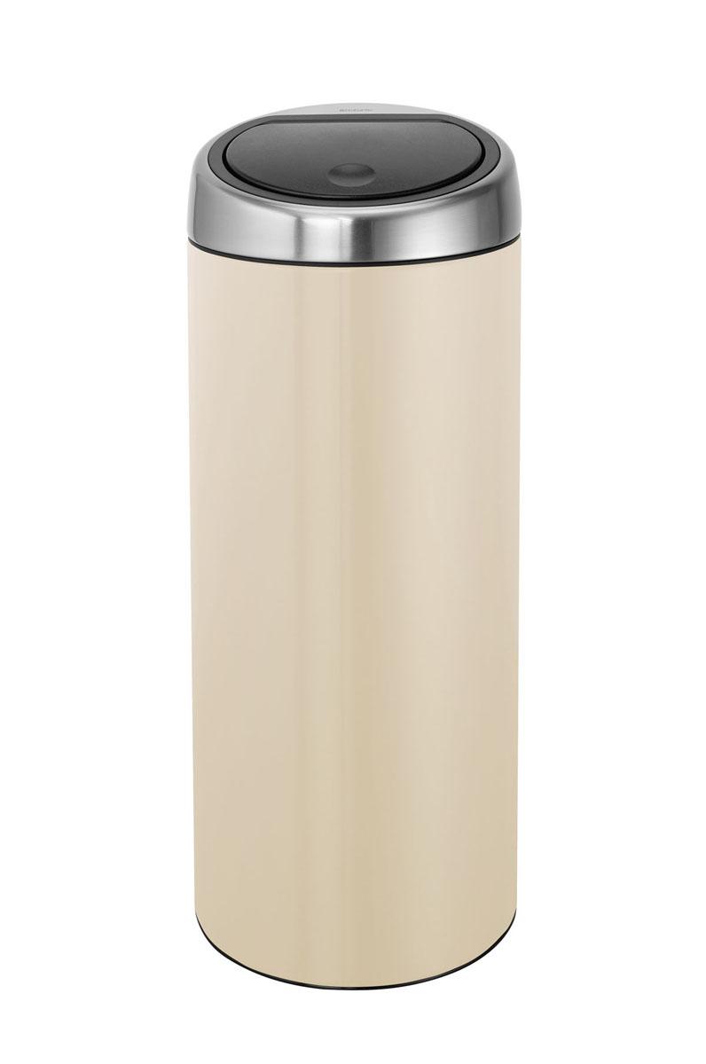 Бак мусорный Brabantia Touch Bin, с защитой от отпечатков пальцев, цвет: миндальный, 30 л531-105Стильный Touch Bin на 30 литров – непременный атрибут каждой гостиной или кухни. Порадуйте себя и удивите гостей!Бесшумное открывание/закрывание крышки легким касанием – система soft touch; Удобная смена мешков для мусора – съемный блок крышки из нержавеющей стали;Удобная очистка – съемное внутреннее ведро из пластика с вентиляционными отверстиями, предотвращающими образование вакуума при вынимании полного мусорного мешка; Легкое перемещение с места на место – прочная ручка для переноски;Предохранение пола от повреждений – пластиковый защитный обод; Бак изготовлен из коррозионно-стойких материалов – долговечность и удобство в очистке;Всегда опрятный вид – идеально подходящие по размеру мешки для мусора с завязками (размер C); 10-летняя гарантия Brabantia. Характеристики:Материал: сталь.Размер: 305 х 305 х 765мм.Артикул: 479809.