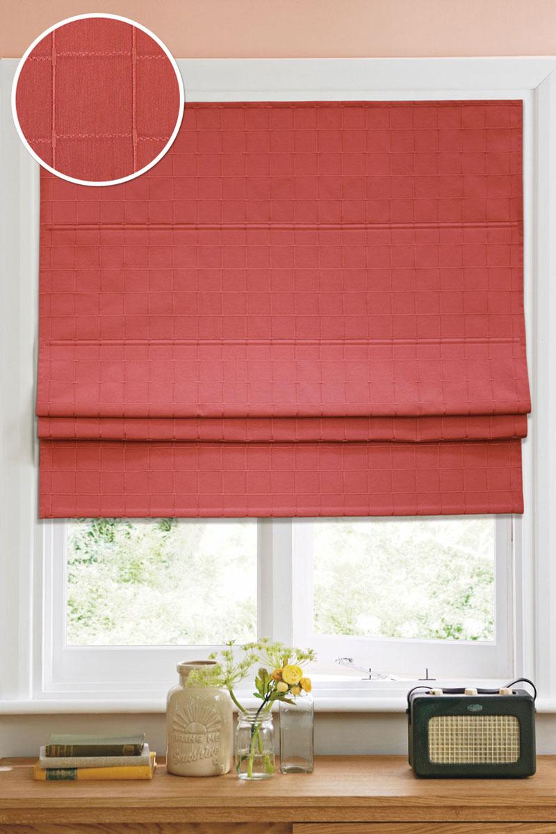 Римская штора Эскар Ammi, цвет: красный, ширина 120 см, высота 160 см1016100Римская штора Эскар Ammi, выполненная из высокопрочной ткани, является отличным заменителем обычных портьер. Ее можно установить там, где невозможно повесить обычные шторы. Конструкция шторы позволяет ее разместить даже на самых маленьких оконных проемах, а специальная пропитка ткани сделает данный вид декора окна эстетичным долгое время. Римская штора представляет собой полотно, по ширине которого параллельно друг другу вшиты пластиковые или деревянные рейки. На концах этих планок закреплены кольца, сквозь которые пропущен шнур. С его помощью осуществляется управление шторой. При движении шнура вниз происходит складывание полотна и его поднятие в верхнюю часть оконного проема. При закрывании шнур поднимается, а складки, образованные тканью, расправляются и опускаются на окно.Такая штора станет прекрасным элементом декора окна и гармонично впишется в интерьер любого помещения.Комплект для монтажа прилагается.