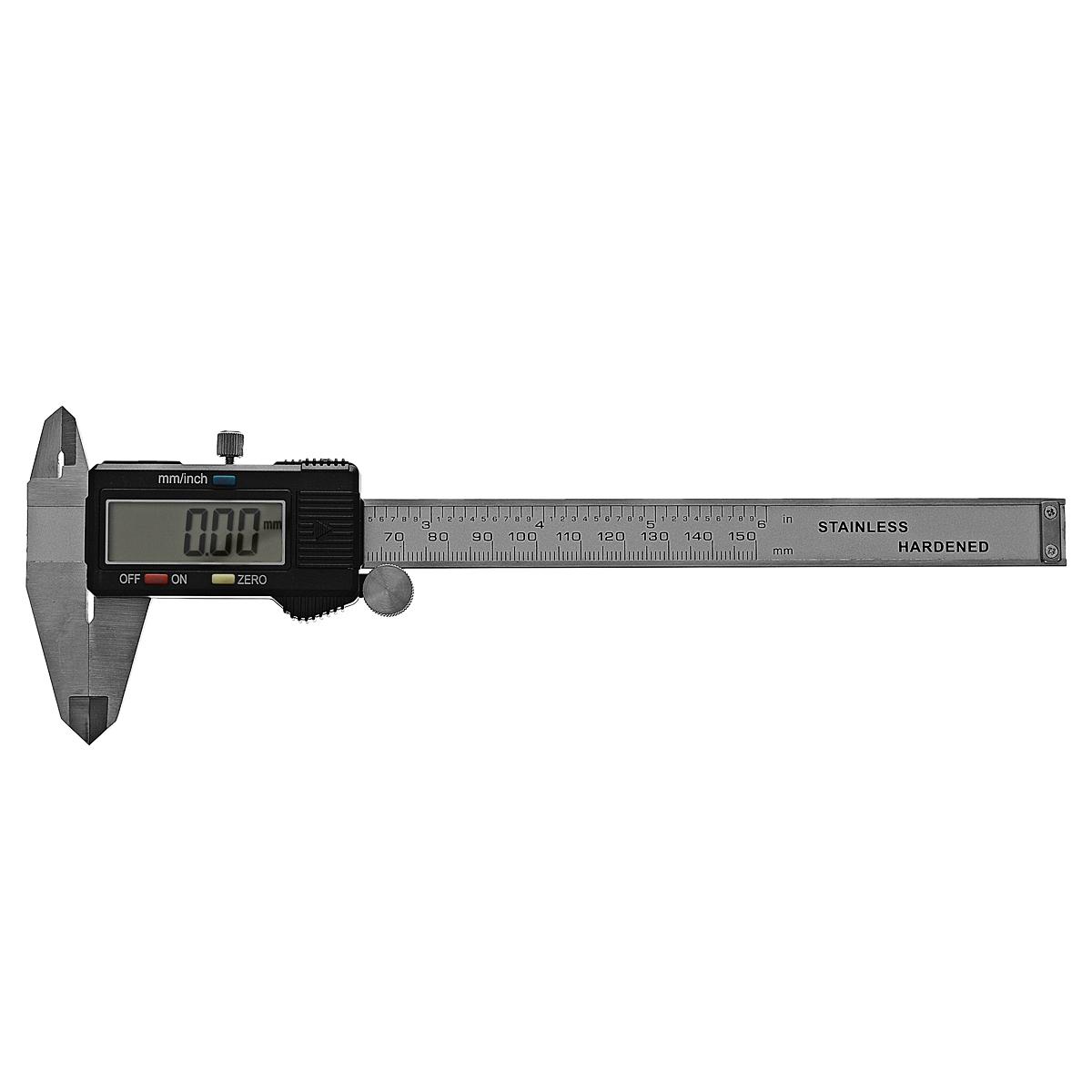 Штангенциркуль электронный Fit Digital Caliper, 15 см54 009318Штангенциркуль электронный Fit предназначен для измерений наружных и внутренних линейных размеров, а так же для измерения глубин. Применяется в машиностроении, приборостроении и других отраслях промышленности. Характеристики: Материал: нержавеющая сталь, пластик. Общий размер штангенциркуля: 23,5 см x 7,7 см x 1,2 см. Диапазон измерения: 0-150 мм. Дискретность: 0,01 мм/ 0.0005. Точность: 0.01 мм. Воспроизводимость повторных измерений: 0.01 мм/ 0.0005. Максимальная скорость измерений: 1,5 м/сек, 60/сек. Диапазон рабочих температур: 5-40°С. Питание: батарейка тип SR 44 (1х1,55В).