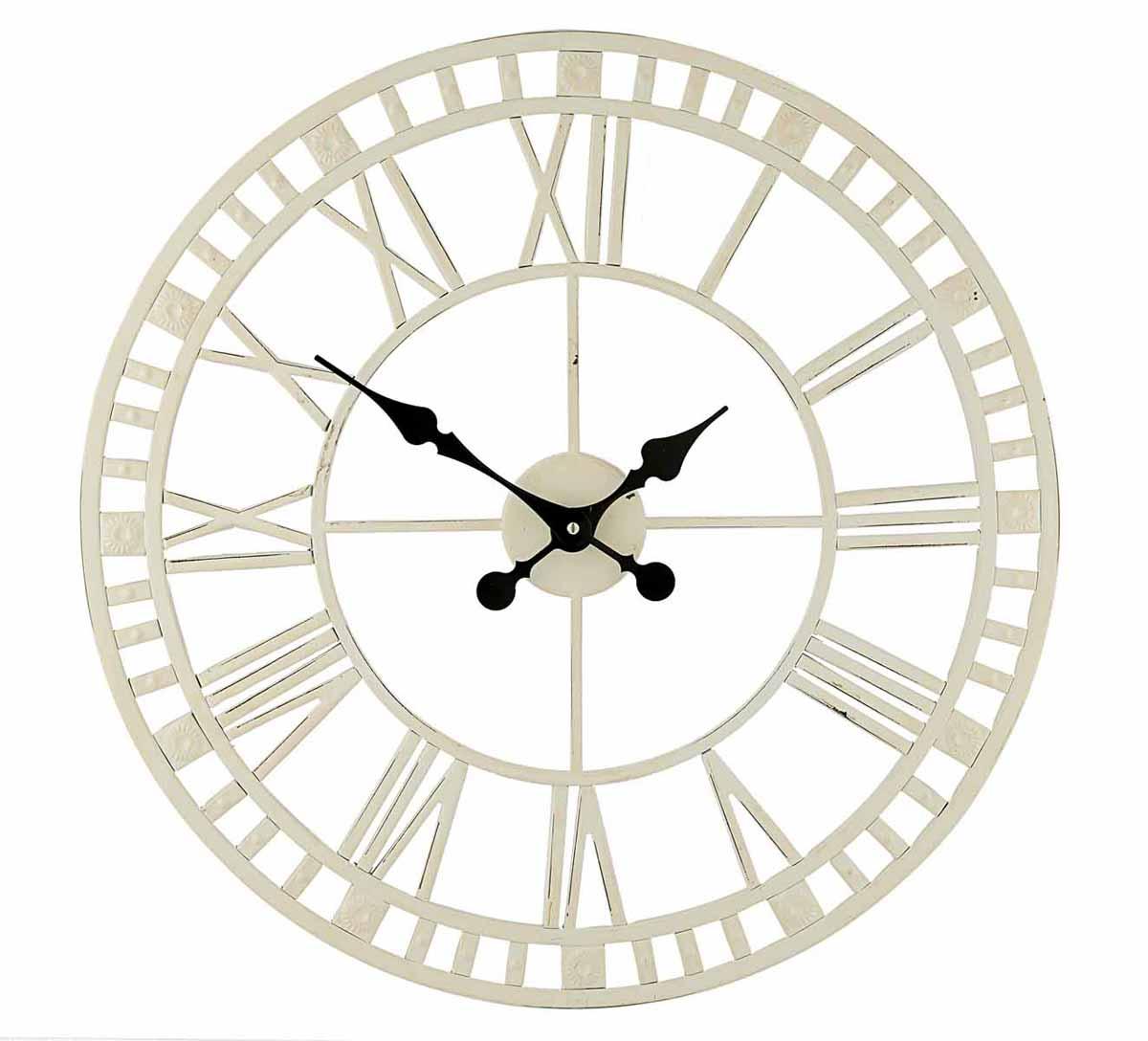 Часы настенные Gardman  Claremont , цвет: белый, диаметр 59 см. 17187 - Будильники