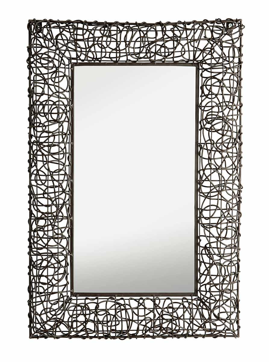 Зеркало настенное Gardman Decorative Woven, 70 см х 50 см. 17804WT-CD37Настенное зеркало Gardman Decorative Woven добавит роскоши в интерьер любого помещения. Зеркало прямоугольной формы имеет пластиковую раму, декорированную под плетенку. Изделие выполнено вручную. Такое зеркало прекрасно подойдет для украшения дома или сада. С задней стороны расположено отверстие для подвешивания на стену.Характеристики: Материал: металл, стекло, пластик. Цвет: коричневый. Размер зеркала (с рамой): 71 см х 50 см. Размер зеркала: 50 см х 30 см.