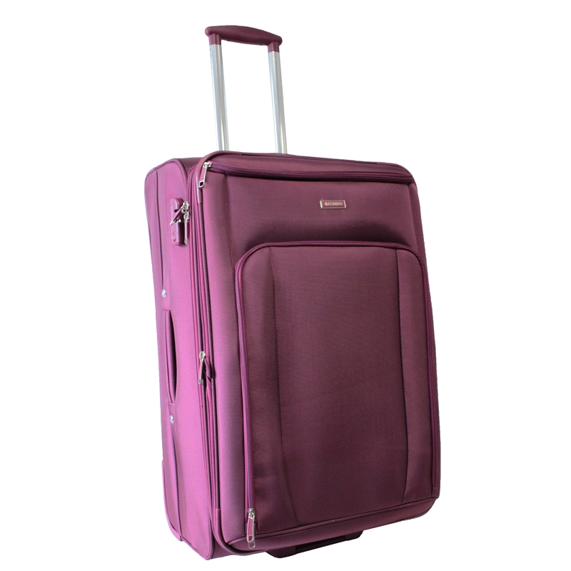Чемодан-тележка Edmins, с расширяющимся объемом, цвет: бордо, 30 кг. 343 СТ 760х2