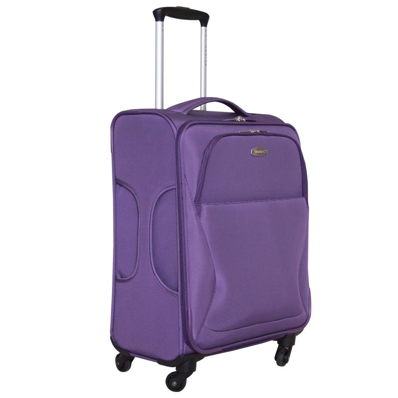 Чемодан-тележка Edmins, цвет: фиолетовый, 10 кг. 437 CT 720х9GM16036w24 blueУльтра-легкий чемодан-тележка Edmins идеально подходит для поездок и путешествий. Чемодан изготовлен из плотного полиэстера фиолетового цвета, имеет жесткую форму. Имеется одно вместительное основное отделение для хранения одежды и аксессуаров, которое закрывается на застежку-молнию с двумя бегунками. Внутри содержится вшитый карман на молнии и накладной карман на молнии, а также два ремня на кнопках. Внутренняя поверхность изделия отделана атласным полиэстером серого цвета. С лицевой стороны сумки расположены два дополнительных отделения на молнии. С задней стороны содержится выдвижная табличка для записи имени и номера телефона. Чемодан оснащен удобной выдвижной алюминиевой ручкой, длину которой можно регулировать. Ручка выдвигается нажатием на кнопку. Дно чемодана имеет 4 вращающихся вокруг своей оси колеса. Боковая поверхность оснащена 4 пластиковыми вставками для предотвращения загрязнений. Имеется две коротких ручки для переноски, одна из которых боковая. Чемодан имеет кодовый замок, который крепится к бегункам основного отделения. Предварительно установленная на заводе комбинация открытия - 000. Вы можете заменить ее на другую, следуя инструкции. В комплекте - чехол-пенал на кулиске для хранения мелких принадлежностей. Стильный и вместительный чемодан Edmins вместит все необходимые вещи и станет незаменимым аксессуаром во время поездок. Особенности: - Кодовый замок прилагается- Багажные ремни в главном отделении- Ножки на боковой стороне- Жесткая конструкция- 2 внутренних кармана- На задней стенке вкладыш для подписи Фамилии- Мешок для обуви- Число колес: 4. Характеристики:Материал: полиэстер, алюминий, пластик, металл. Цвет: фиолетовый. Размер чемодана (ДхШхВ): 38 см х 23 см х 54 см. Максимальная нагрузка: 10 кг. Количество колес: 4 шт. Длина выдвижной ручки: 28 см, 52 см. Размер чехла: 31 см х 42 см.
