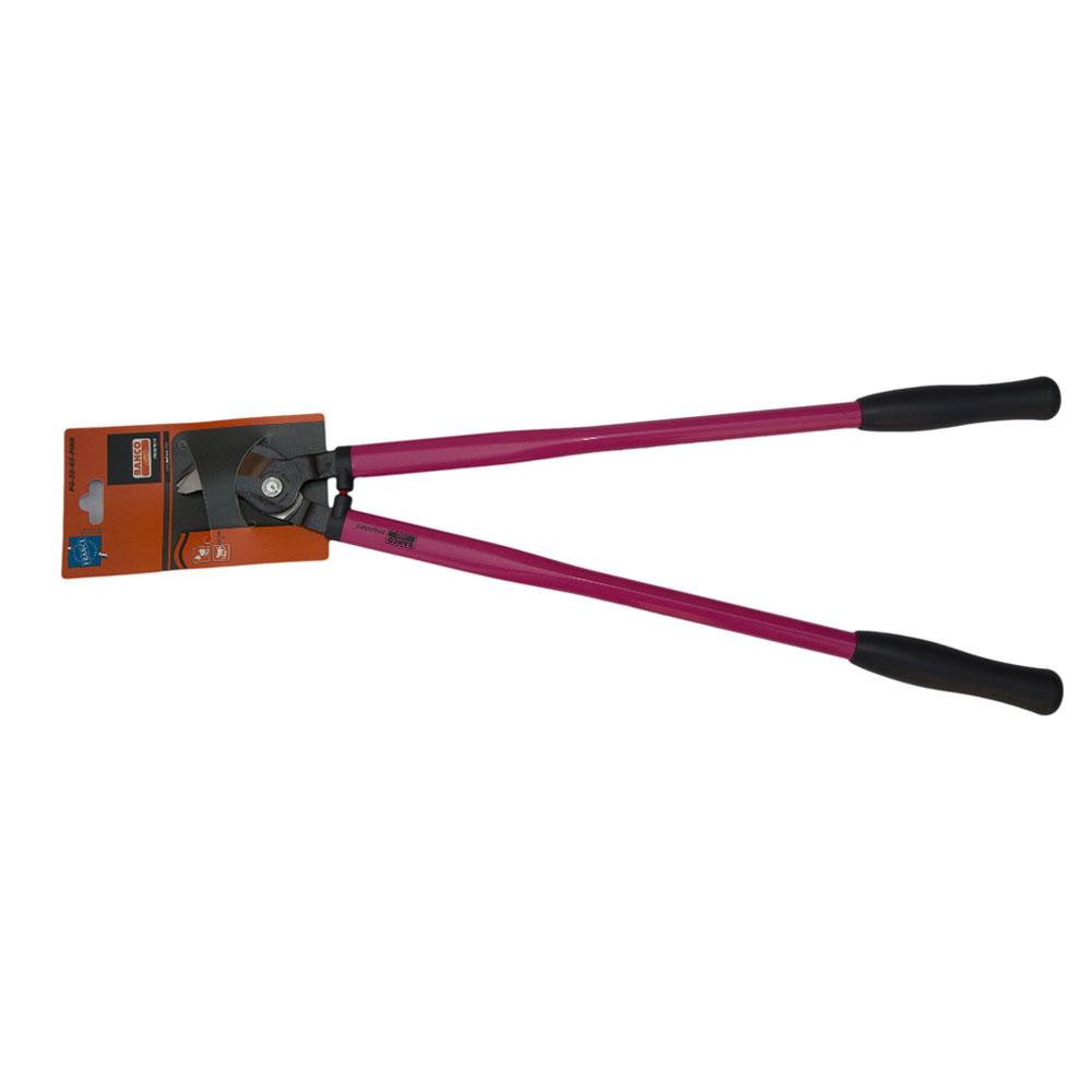 Сучкорез Bahco, цвет: розовый, длина 65 см. PG-28-65-PINK391602Сучкорез Bahco с крепкой режущей головкой предназначен для кустарников и маленьких деревьев. Стальные рукоятки с удобными пластиковыми захватами. Режущая головка из закаленной и отпущенной высокоуглеродистой стали.