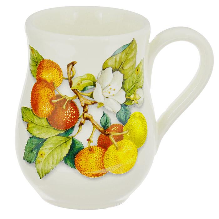 Кружка Nuova Cer Итальянские фрукты, 320 мл. NC7400-CEM-ALVT-1520(SR)Кружка Nuova Cer Итальянские фрукты изготовлена из высококачественной керамики. Изделие оформлено красочным изображением фруктов. Кружка имеет толстые стенки, благодаря чему напиток дольше остается горячим. Изысканная кружка прекрасно оформит стол к чаепитию и станет его неизменным атрибутом.Не рекомендуется использовать в СВЧ и мыть в посудомоечной машине. Характеристики: Материал: керамика. Цвет: бежевый. Объем: 320 мл. Диаметр (по верхнему краю): 8 см. Высота кружки: 11,5 см.