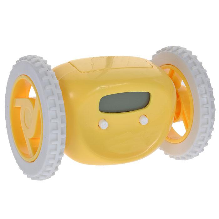 Часы-будильник Инопланетянин, цвет: желтый. 93483MRC 4119 P schwarzЧасы-будильник Инопланетянин, несомненно, разбудят абсолютно любую соню. По крайней мере, подняться и немного побегать, чтобы его выключить, точно придется. В назначенное время он начинает звенеть и параллельно с этим уезжает со своего места. Корпус выполнен из пластика желтого цвета. На корпусе часов расположены маленькие глазки-кнопки, они предназначены для программирования будильника. Установите будильник на необходимое время, и оно отобразится на жидкокристаллическом экране-ротике. С таким будильником опоздания в школу или на работу исключены! Станет забавным подарком для друзей и близких. Характеристики: Материал: пластик. Цвет: желтый. Размер будильника (ДхШхВ): 13,5 см х 9 см х 9 см. Будильник работает от 4 батареек типа АА (в комплект не входят).