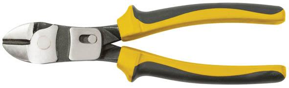Бокорезы рычажного типа FIT Профи, 200 мм98298130Бокорезы рычажного типа FIT Профи предназначены для перекусывания проволоки. Увеличенное плечо за счет смещения поворотного шарнира к рабочим губкам, и составной рычаг увеличивают усилие при сведении губок на 50%. Бокорезы изготовлены из хром-ванадиевой стали. Прорезиненные пластиковые рукоятки обеспечивают удобный хват.
