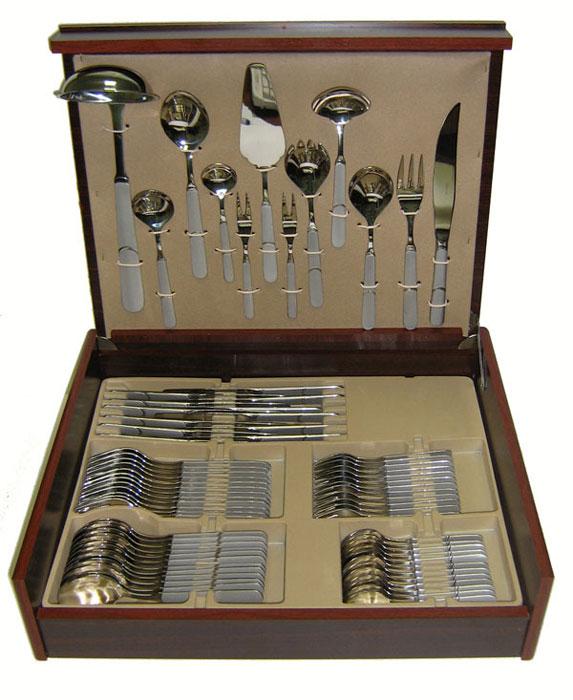 Набор столовых приборов Herdmar Queen, 72 предмета9301-7207930720700E10 QUEEN 72 пр.матир. Характеристики: Материал: сталь.Размер: 505*405*95мм.Артикул: 07930720700E10.