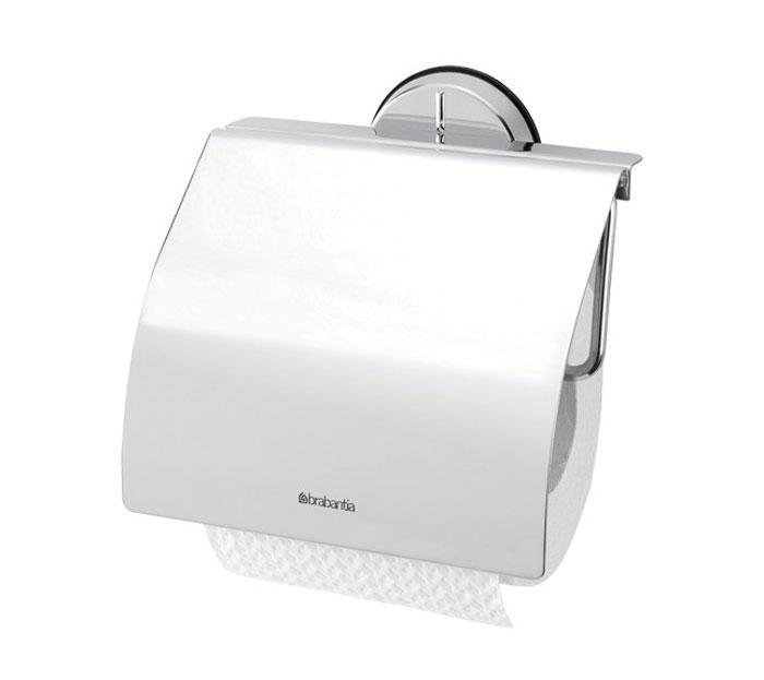 Держатель для туалетной бумаги Brabantia Profile. 427602531-105Держатель для туалетной бумаги Brabantia Profile выполнен из высококачественного коррозионностойкого материала - полированной стали. Держатель просто монтировать и легко менять рулон. Фурнитура для монтажа входит в комплект. Такой держатель - идеальное решение для туалетной комнаты.
