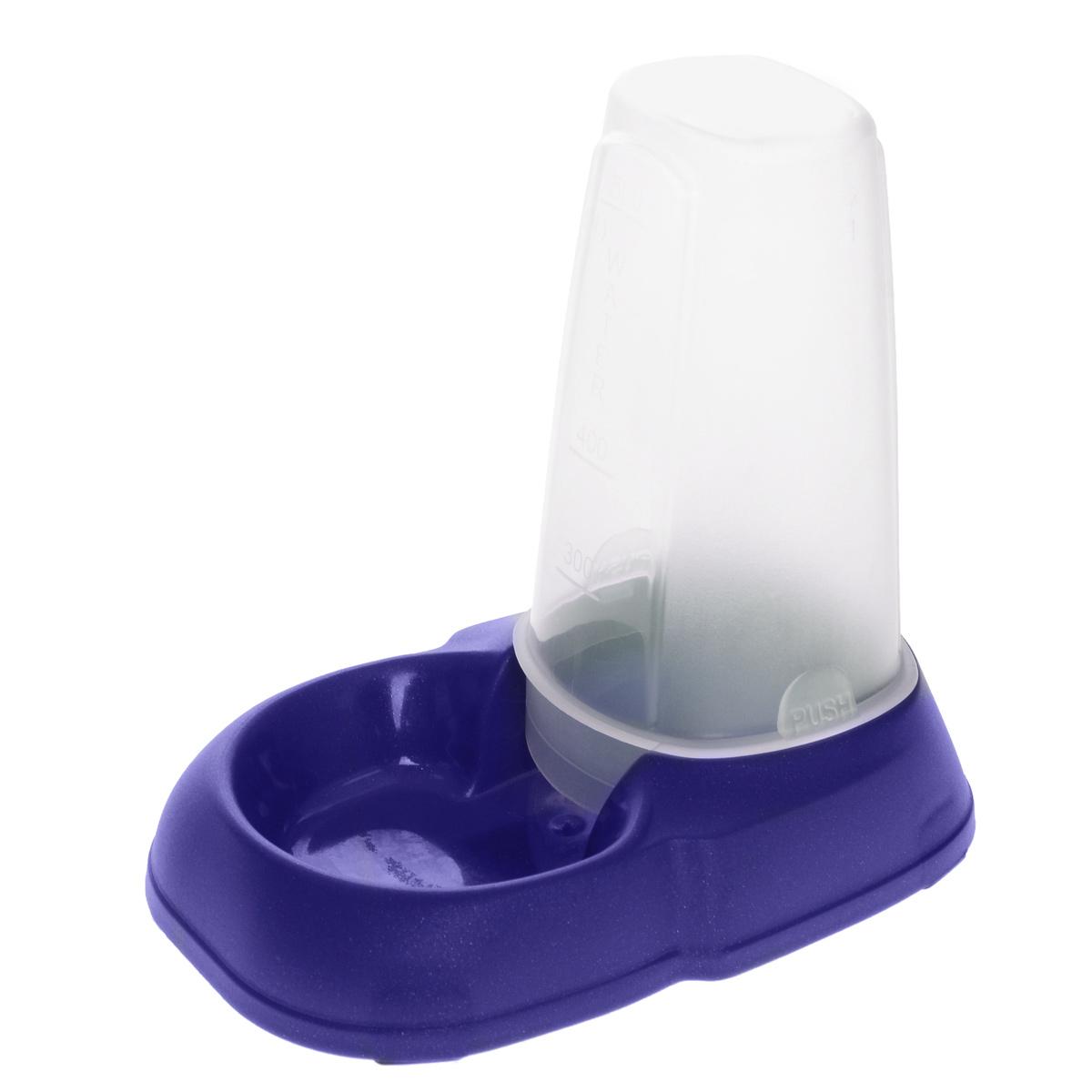 Миска для животных MPS Maya Dispenser, с контейнером, цвет: синий, 500 мл0120710Миска MPS Maya Dispenser, изготовленная из пластика, не впитывает посторонние запахи. Подходит как для кошек, так и для собак, хорьков, кроликов, морских свинок. Особенно удобна такая миска, если в доме содержится несколько животных. Подходит как для корма, так и для воды. На дне имеются противоскользящие резиновые ножки. Специальный прозрачный контейнер большой вместимости позволяет оставить достаточное количество воды или корма на длительное время. Объем контейнера: 500 мл. Размер миски: 12 см х 18 см х 4 см. Размер контейнера: 7,5 см х 7,5 см х 13 см.Товар сертифицирован.