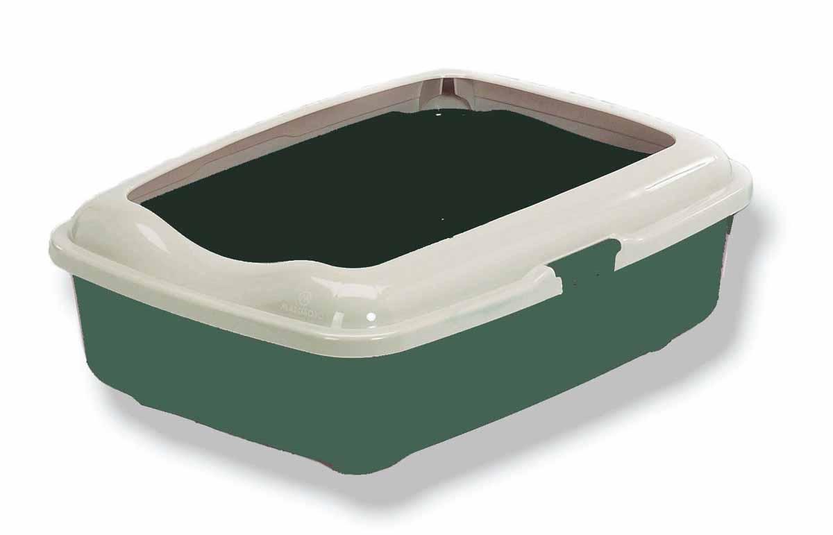 Туалет для кошек Marchioro Goa, с бортом, цвет: зеленый, 50 х 37 х 17 см0120710Туалет для кошек Marchioro Goa изготовлен из высококачественного итальянского пластика с полированной поверхностью. Высокий борт, прикрепленный к периметру лотка, удобно защелкивается и предотвращает разбрасывание наполнителя. Благодаря специальным резиновым ножкам туалет не скользит по полу.