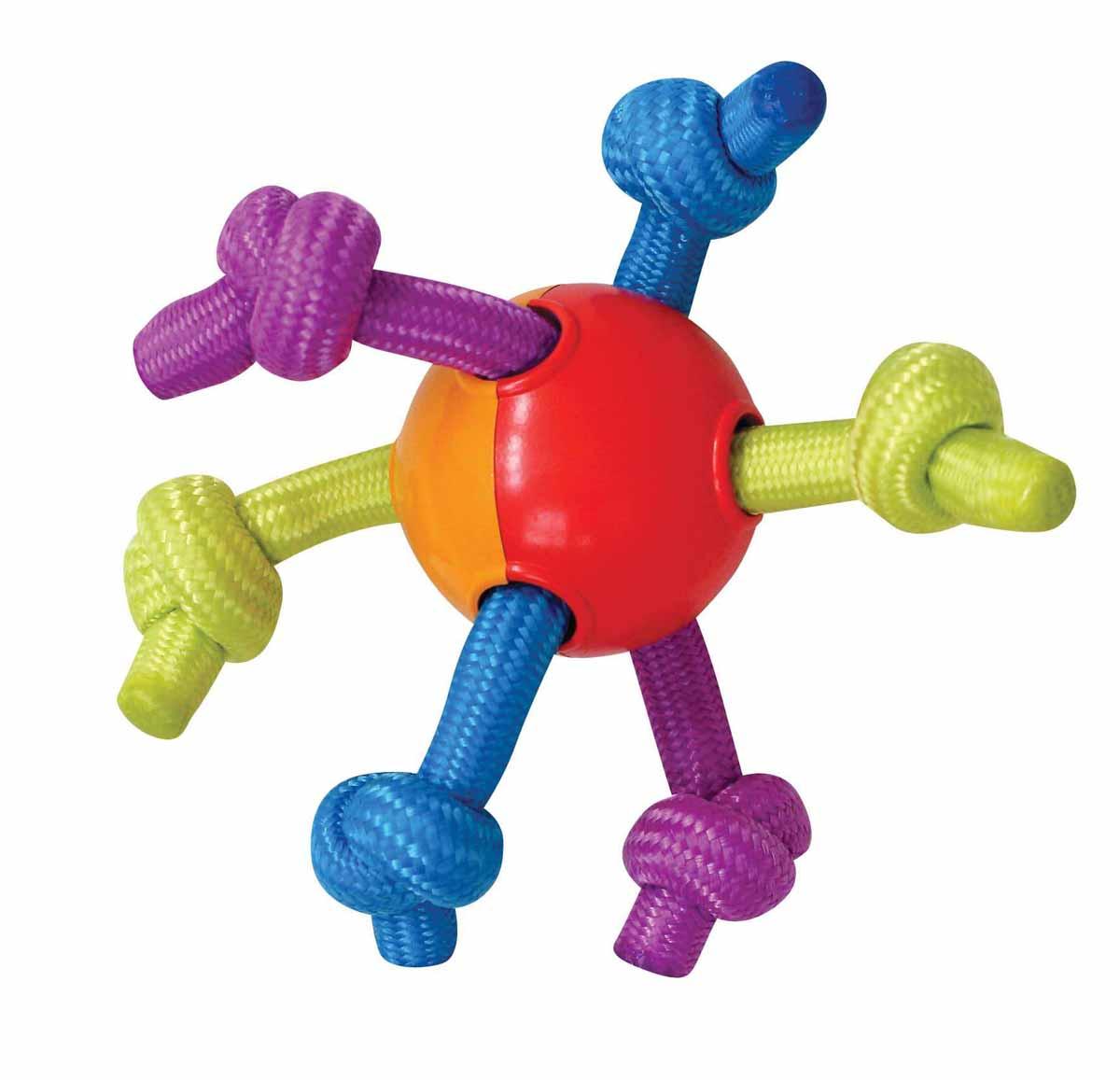 Игрушка для щенков Petstages Puppy Мячик с канатами285150Игрушка для щенков Petstages Puppy представляет собой пластиковый мячик с канатами. Жуя и растягивая мягкие и прочные полипропиленовые канаты, ваш питомец не повредит себе зубы и десны. Эластичный мяч способствует тренировке челюстей. Различная текстура игрушки добавляет интерес к игре. Способствует очищению зубов и десен от налета и остатков пищи.Характеристики:Материал: полипропилен.Общий размер игрушки: 18 см х 18 см х 7 см.Диаметр мяча: 7 см.