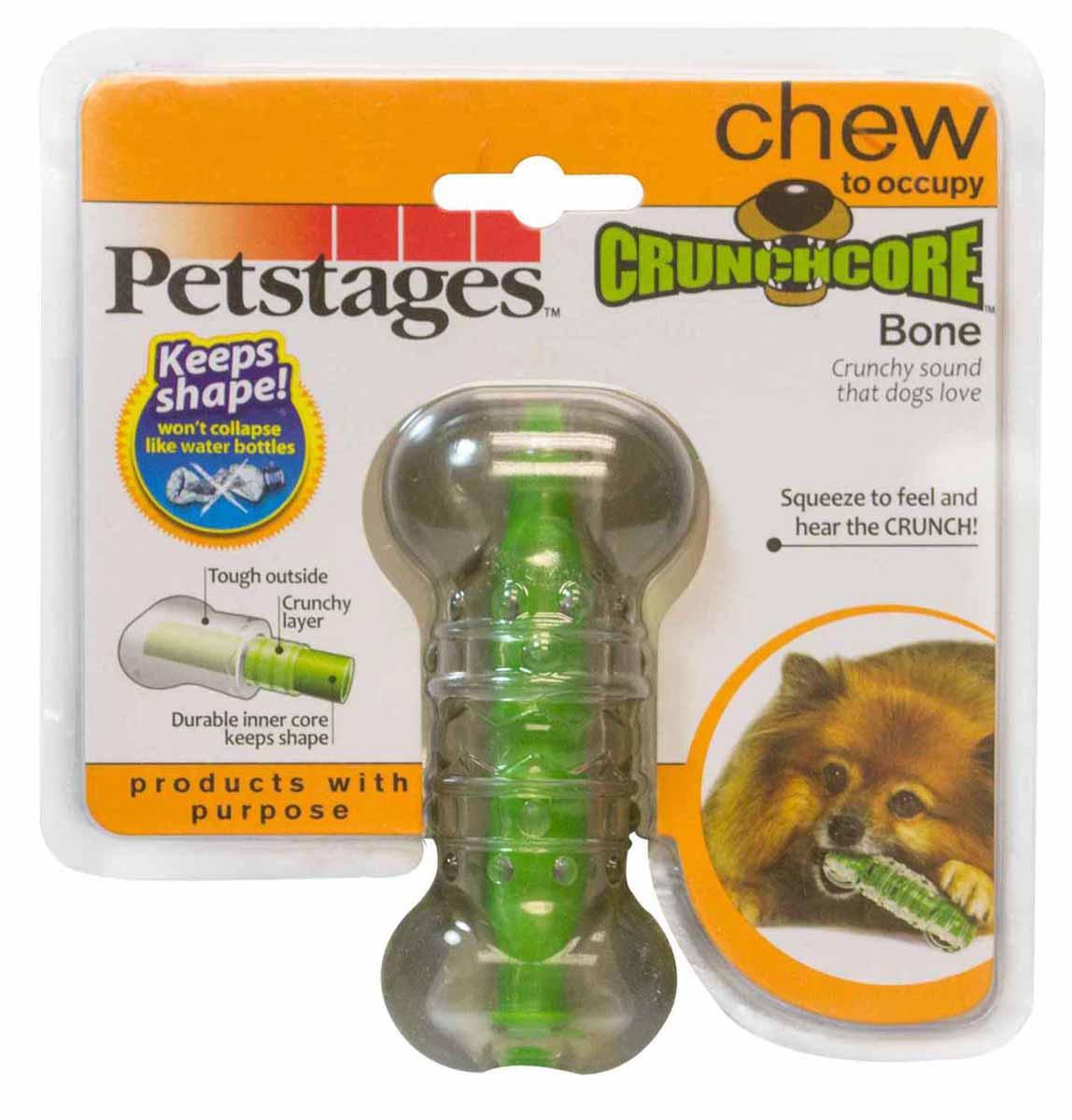 Игрушка для собак Petstages Хрустящая косточка, длина 11 см. 264YEX101246Игрушка для собак Petstages Хрустящая косточка предназначена для собак мелких пород. Выполнена из прочной и гибкой синтетической резины. Внутри игрушки имеется сердечник, выполненный из резины и пластика. Пластик издает хрустящий звук в процессе игры, что привлекает собак.Длина игрушки: 11 см.Товар сертифицирован.
