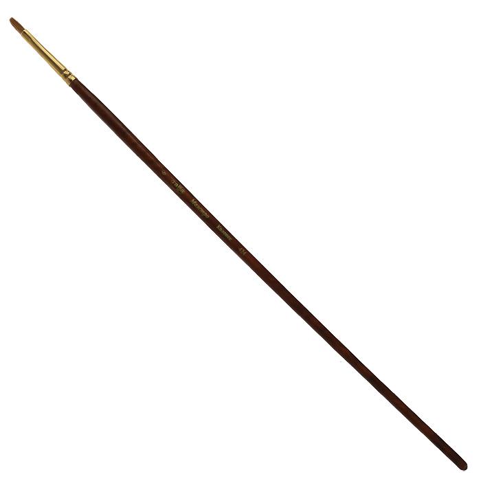 Кисть художественная Гамма Маэстро, колонок, №6C13S041944Колонок - промысловый зверек, относится к виду хищных млекопитающих из рода ласок и хорей. Его мех высоко ценится, а длинные волоски из хвоста идут на кисти для художников. Волос колонковых кистей тонкий, упругий имеет коническую форму. Пучок колонковой кисти состоит из волосков разной длины, которые при соприкосновении наполненной кисти с поверхностью, создают капиллярный поток. С кончика кисти краска стекает непрерывным потоком и с превосходной консистенцией. Они предназначены для художественных работ с акварелью, маслом, темперой, гуашью и акрилом. Характеристики: Материал: натуральный мех, дерево. Общая длина кисти: 28,5 см. Диаметр рукоятки кисти: 6 мм. Номер кисти: 6. Длина щетины: 9 мм.