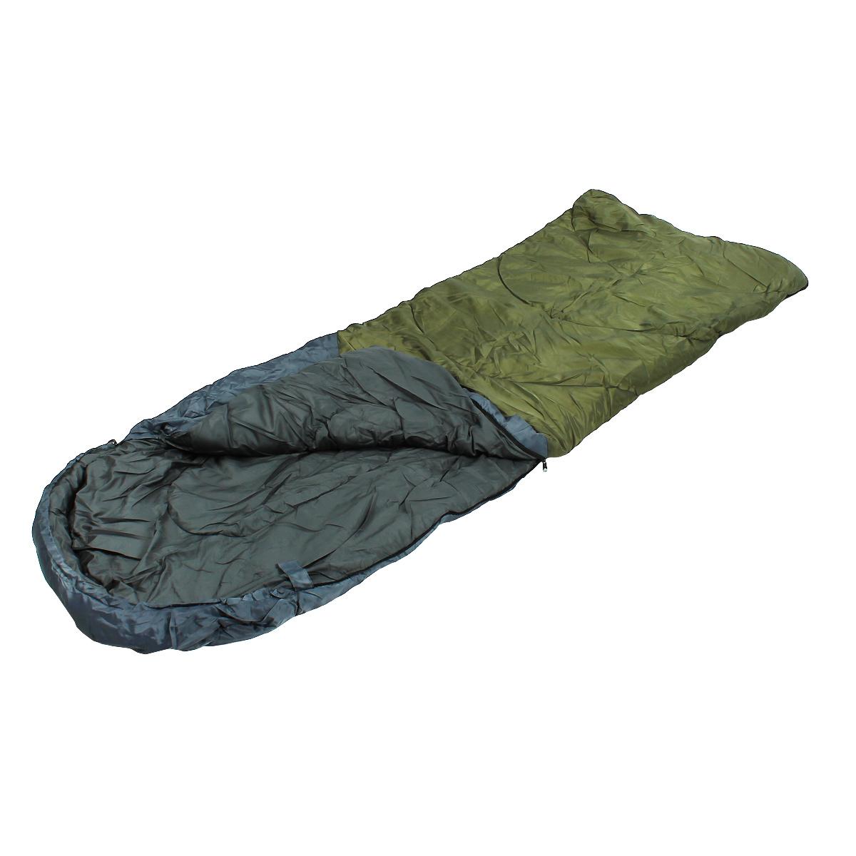 Спальный мешок-одеяло Happy Camper с подголовником, цвет: синий, зеленыйУТ-000050401Комфортный спальник-одеяло имеет прямоугольную форму и одинаковую ширину как вверху, так и внизу, благодаря чему ноги чувствуют себя более свободно. Молния располагается на боковой стороне, благодаря чему при ее расстегивании спальник превращается в довольно большое одеяло. Характеристики:Размер спального мешка с учетом подголовника: 220 см х 85 см. Утеплитель: холлофайбер 200 г/м2 х 2 слоя. Внешний материал: полиэстер 240Т Ripstop. Внутренний материал: 210Т эпонж.