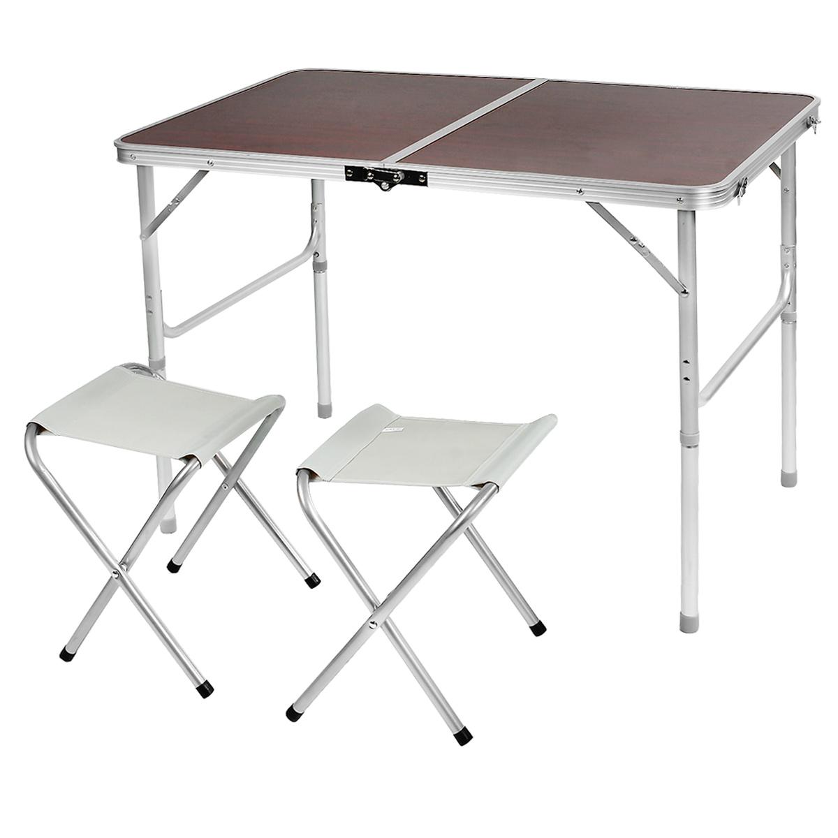 Набор складной мебели Happy Camper, 3 предметаNF-20208Стол складной Happy Camperс 2 стульями - это незаменимый предмет походной мебели, очень удобен в эксплуатации. Каркас складного стола выполнен из алюминия, а столешница из МДФ. Стол легко собирается и разбирается и не занимает много места, поэтому подходит для транспортировки и хранения дома. Складывается в виде чемоданчика.Характеристики: Материал ножек: алюминий. Материал поверхности: МДФ. Размеры в разложенном виде: 98 см х 61 см х 66 см. Размеры в сложенном виде: 61 см х 6,6 см х 49 см.