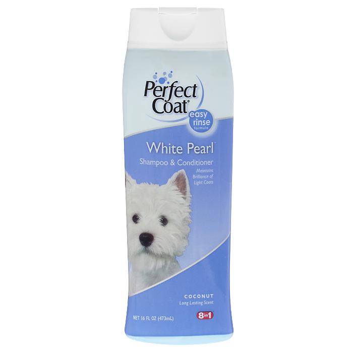Шампунь-кондиционер для собак светлых окрасов 8 in 1 Perfect Coat. White Pearl, 473 мл12171996Шампунь-кондиционер для собак светлых окрасов 8 in 1 Perfect Coat. White Pearl способствует поддержанию насыщенности и яркости белой и светлой шерсти. Он содержит специальную формулу, которая связывает железо и медь водопроводной воды, не позволяя светлой шерсти желтеть. Алоэ вера и частицы кондиционера увлажняют кожу и оставляют шерсть мягкой и блестящей. С ароматом кокоса.Легко смываемая формула. Применение: Обильно нанесите на влажную шерсть. Распределите шампунь массирующими движениями, продвигаясь от головы к хвосту и избегая попадания шампуня в глаза. Полностью смойте водой. При необходимости повторить. Расчешите шерсть, чтобы она не спуталась, и высушите полотенцем.Состав:Вода, натрия олеина сульфат, натрия сульфат, лаурамид, изостеариновый лактат, натрия хлорид, стеарат гликоля, гель алое-вера, пропилен гликоль, диазолиновая мочевина, метилпарабен, пропилпарабен, ароматизатор, красители.Товар сертифицирован.