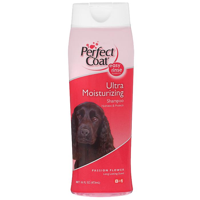 Шампунь для собак 8 in 1 Perfect Coat, увлажняющий, 473 мл0120710Увлажняющий шампунь для собак 8 in 1 Perfect Coat специально разработан для увлажнения и быстрого восстановления сухой кожи и шерсти собак. Шампунь содержит микрокапсулированные липосомы с пантенолом для восстановления кожи и придания шерсти блеска и шелковистости. После купания шерсть надолго сохраняет приятный аромат страстоцвета.Легко смываемая формула.Способ применения: Обильно нанесите на влажную шерсть. Распределите шампунь массирующими движениями, продвигаясь от головы к хвосту и избегая попадания шампуня в глаза. Полностью смойте водой. При необходимости повторить. Расчешите шерсть, чтобы она не спуталась, и высушите полотенцем. Состав: вода, натрий С14-1616 олефин сульфонат, натрия лаурет сульфат, лаурамид DEA, натрия хлорид, экстракт ромашки, алоэ вера, пасси-флоры, клевера, цветки акации, листья и цветки апельсинового дерева, глицерин, липосомы с пантенолом, ароматизатор, пропилен гликоль, диазолидинил мочевины, метилпарабен, пропилпарабен.Товар сертифицирован.