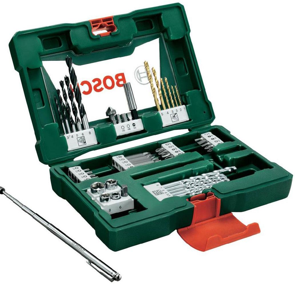 Набор принадлежностей Bosch V-Line, 48 предметов2607017314Набор инструментов Bosch «V-Line» предназначен для монтажа и демонтажа резьбовых соединений. Все инструменты в наборе изготовлены из высококачественной стали. Этот необходимый предмет в каждом доме станет незаменимым в вашем хозяйстве.В набор входят: сверла по металлу: 2, 2, 3, 3, 4, 5 мм; сверла по дереву: 5, 5,5, 6, 6, 7, 8 мм; сверла по камню: 3, 4, 5, 6, 8 мм; биты 25 мм: PH1, PH2, PH2, PH3; биты 25 мм: PZ1, PZ2, PZ3; биты 25 мм: SL4, SL5, SL6; биты 25 мм: T10, T15, T20, T25, T30; биты 25 мм: H4, H5, H6; биты 50 мм: PH2; биты 50 мм: PZ2; биты 50 мм: SL6; биты 50 мм: T20, T25; торцовые головки: 6, 8, 10, 13 мм; зенкер; магнитный щуп; магнитный держатель для бит.