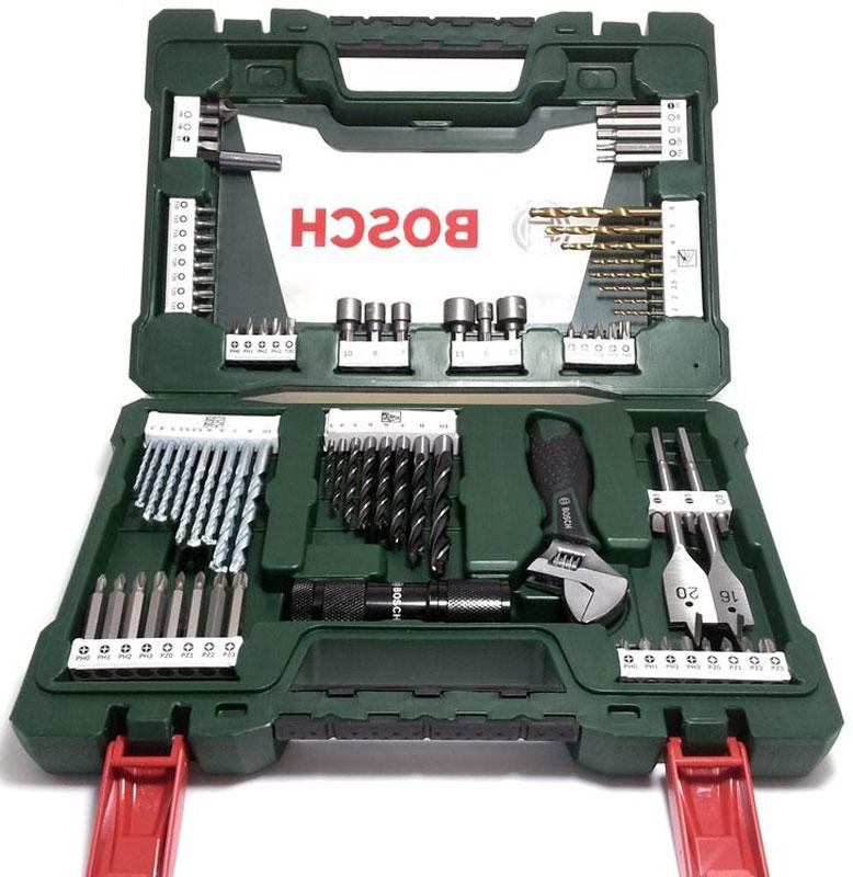 Набор принадлежностей Bosch V-Line, 83 предмета98293777Набор инструментов Bosch V-Line предназначен для монтажа и демонтажа резьбовых соединений. Все инструменты в наборе изготовлены из высококачественной стали.Это необходимый предмет в каждом доме, набор станет незаменимым в вашем хозяйстве.В набор входят:Сверла по металлу: 2, 2, 2,5, 3, 3, 4, 5, 6 мм;Сверла по дереву: 3, 4, 5, 5,5, 5,5, 6, 6, 7, 8, 10 мм;Сверла по камню: 3, 4, 5, 6, 6, 7, 8, 10 мм;Перьевые сверла: 16 мм и 20 мм;Биты 25 мм: PH0, PH0, PH1, PH1, PH2, PH2, PH3, PH3;Биты 25 мм: PZ0, PZ0, PZ1, PZ1, PZ2, PZ2, PZ3, PZ3;Биты 25 мм: SL4, SL5, SL6;Биты 25 мм: T10, T10, T15, T15, T20, T20, T25, T25, T30, T40;Биты 25 мм: H4, H5, H6;Биты 50 мм: PH0, PH1, PH2, PH3;Биты 50 мм: PZ0, PZ1, PZ2, PZ3;Биты 50 мм: SL5;Биты 50 мм: T15, T20;Биты 50 мм: H5, H6;Раздвижной гаечный ключ;Торцовые головки: 6, 7, 8, 10, 12, 13 мм;Светодиодный фонарь;Зенкер;Магнитный держатель для бит.