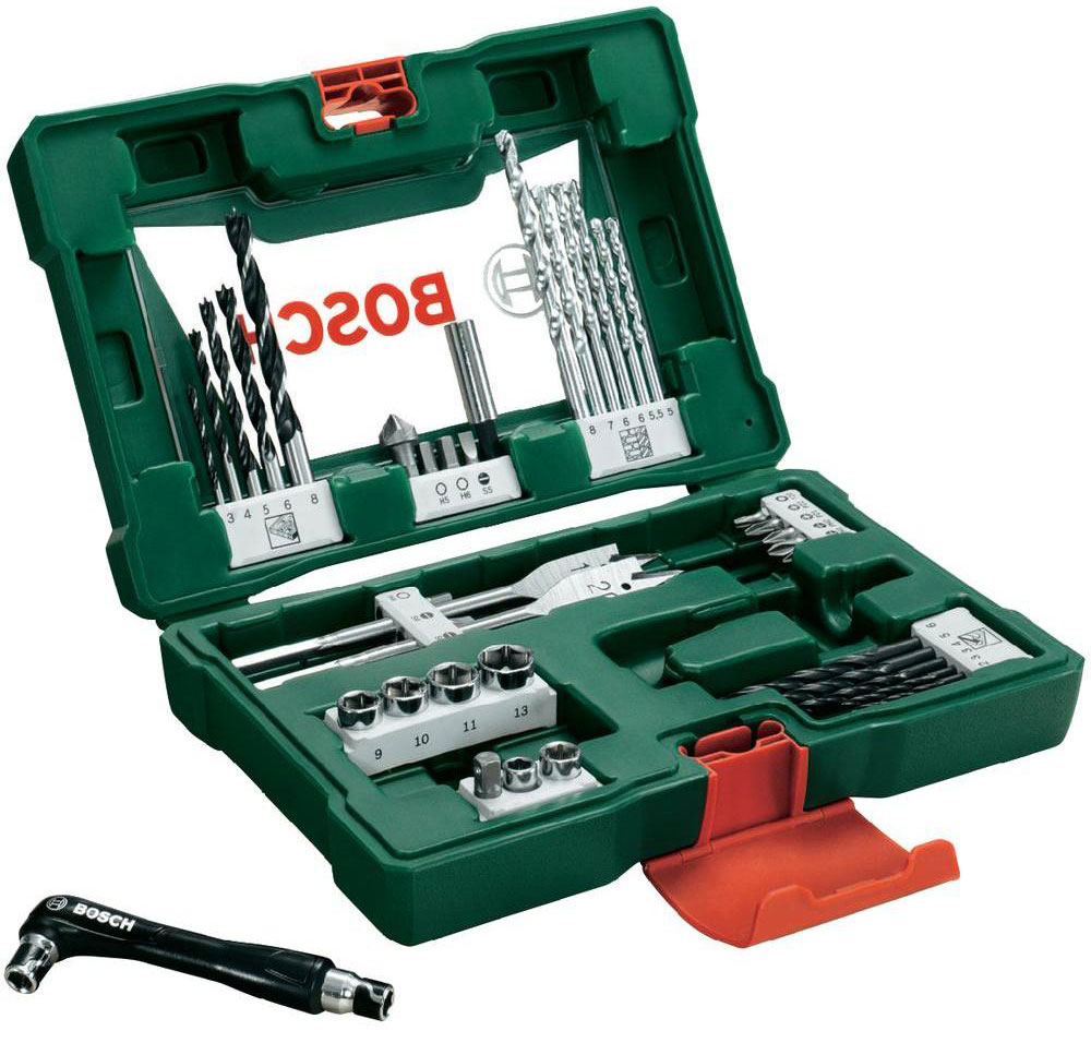 Набор принадлежностей Bosch V-Line, 41 предмет98293777Набор инструментов Bosch V-Line предназначен для монтажа и демонтажа резьбовых соединений. Все инструменты в наборе изготовлены из высококачественной стали.Это необходимый предмет в каждом доме, набор станет незаменимым в Вашем хозяйстве.В набор входят:Сверла по металлу: 2, 2, 3, 3, 4, 5, 6 мм;Сверла по дереву: 5, 5,5, 6, 6, 7, 8 мм;Сверла по камню: 3, 4, 5, 6, 8 мм;Перьевые сверла: 16 мм и 20 мм;Биты 25 мм: PH1, PH2;Биты 25 мм: PZ1, PZ2;Биты 25 мм: SL4, SL5, SL6;Биты 25 мм: T20;Биты 25 мм: H4, H5, H6;Торцовые головки: 6, 8, 9, 10, 11, 13 мм;Зенкер;Магнитный держатель для бит;Двухсторонний держатель для бит.
