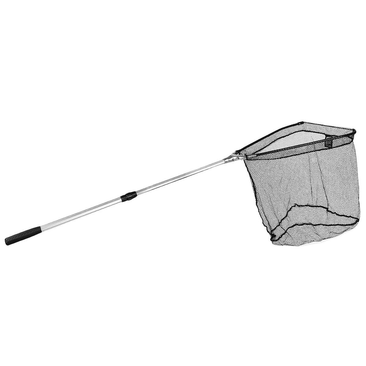 Подсачек складной Salmo, телескопический, 140 см х 50 см х 46 см130920Подсачек - важная деталь снаряжения любого рыболова. Удобный складной подсачек с треугольной формой сачка и телескопической ручкой. Размер ячейки 0,8 см х 0,8 см. На ручке расположен фиксатор для закрепления на поясе.Материал: металл, капрон.