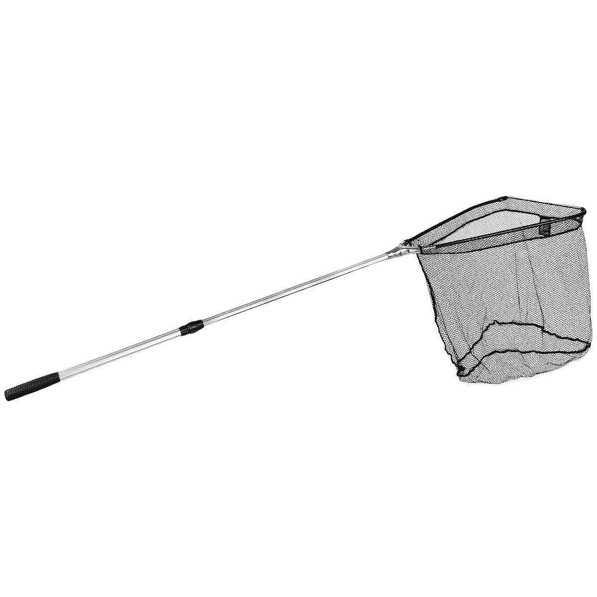 Подсачек складной Salmo, телескопический, 200 см х 60 см х 58 см7502-200Подсачек - важная деталь снаряжения любого рыболова. Удобный складной подсачек с треугольной формой сачка и телескопической ручкой. Размер ячейки 0,8 см х 0,8 см. На ручке расположен фиксатор для закрепления на поясе.Материал: металл, капрон.