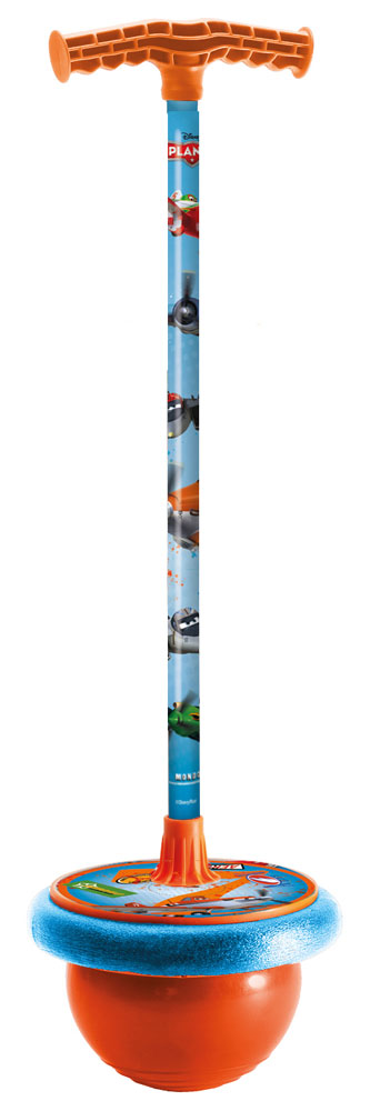 """Мяч-попрыгун """"Самолеты"""" от компании Mondo отличная игрушка для активного мальчика. Он украшен изображениями героев мультфильма """"Самолеты"""". В основании мяча-попрыгуна прочный резиновый мяч и удобная площадка для ног. Возле ручки прикреплен небольшой футляр, в который можно положить какие-нибудь вещи. Ребенок проведет много веселых часов, прыгая с этой игрушкой, но самое главное это еще и полезно. Отлично развивает координацию движения и повышает общую физическую подготовку."""